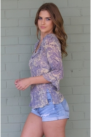 Angie Janet Lilac Top - Front full body