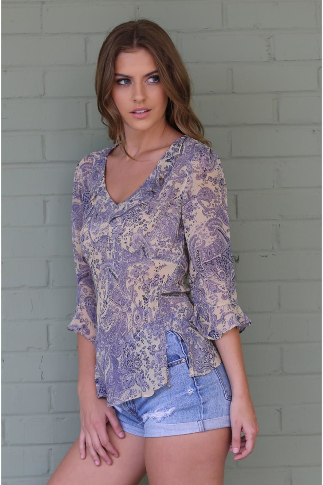 Angie Janet Lilac Top - Side Cropped Image