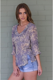 Angie Janet Lilac Top - Side cropped