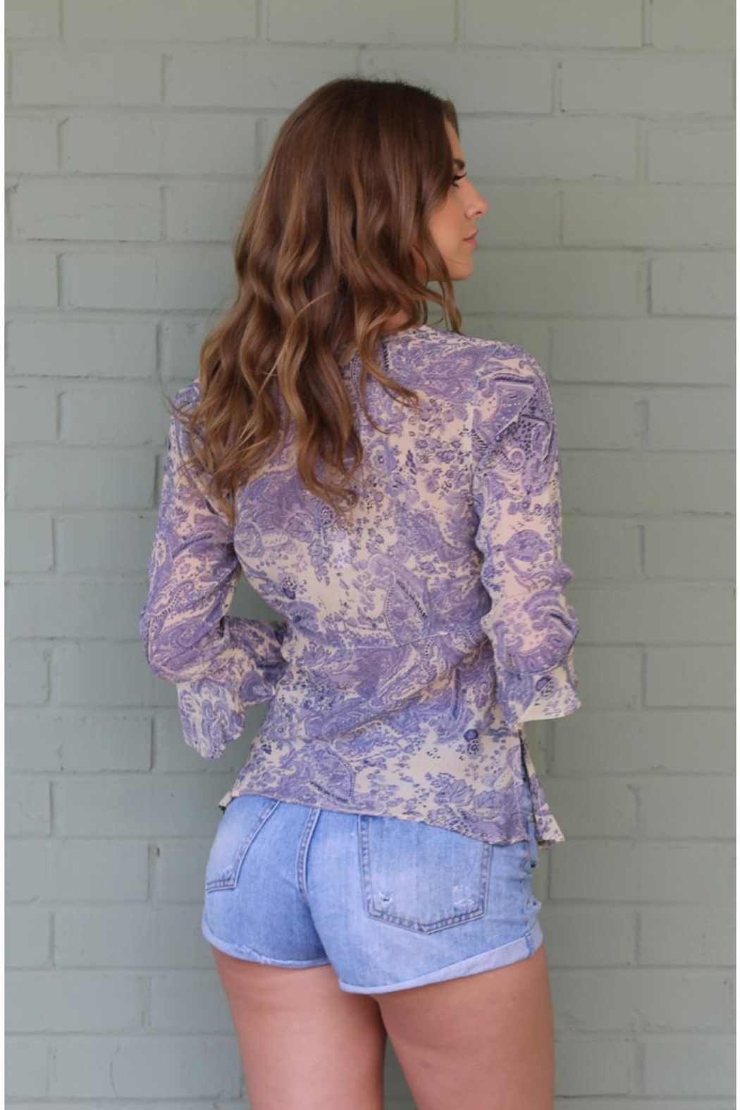 Angie Janet Lilac Top - Back Cropped Image