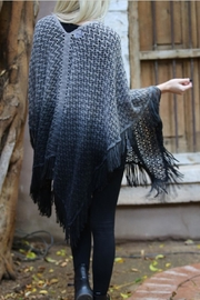 Angie Ombre Fringe Poncho - Front full body