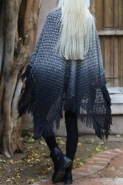 Angie Ombre Fringe Poncho - Back cropped