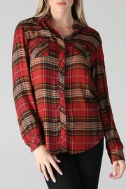 Angie Plaid Button Down - Product Mini Image