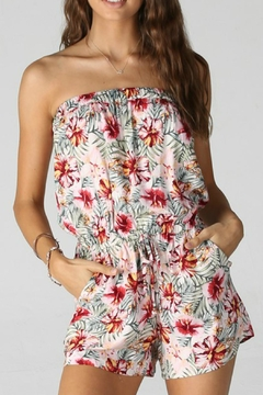 Angie Print Strapless Romper - Product List Image
