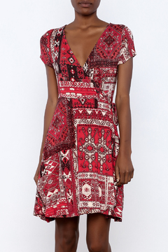 Angie Printed Wrap Dress - Product List Image
