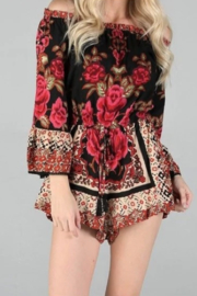 Angie Off-the-Shoulder Romper - Product Mini Image