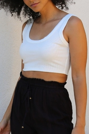 Angie Ribbed Crop Tank - Product Mini Image