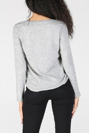 Angie Ribbed Henley - Side cropped