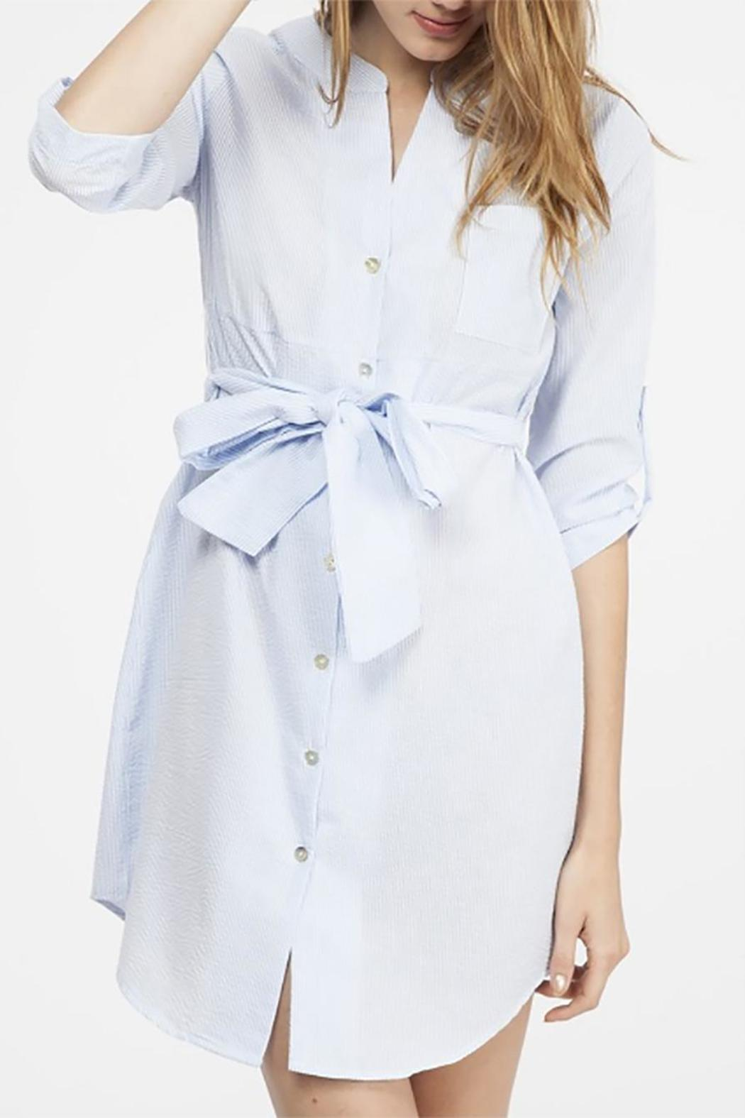 Angie S Seersucker Shirt Dress From Mississippi By Lucky Liles