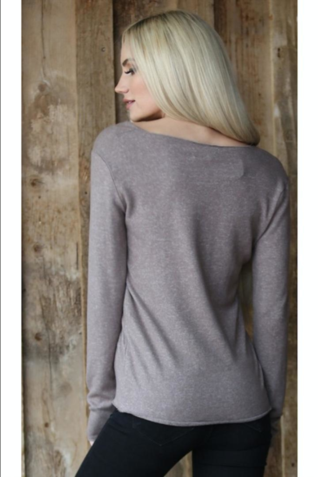 Angie Scoop-Neck Lightweight Sweater - Front Full Image