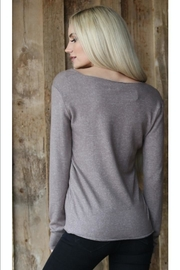 Angie Scoop-Neck Lightweight Sweater - Front full body