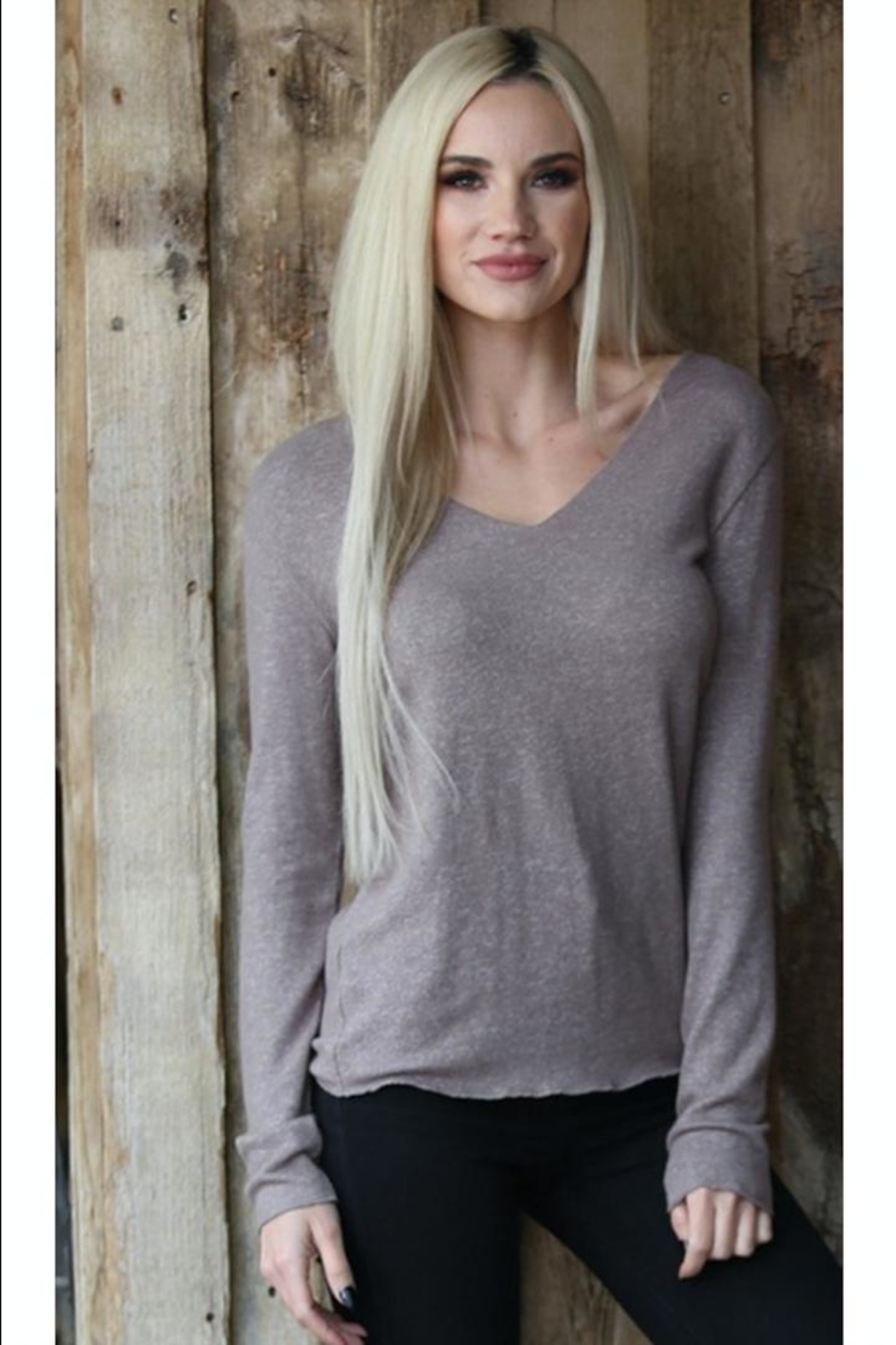 Angie Scoop-Neck Lightweight Sweater - Main Image