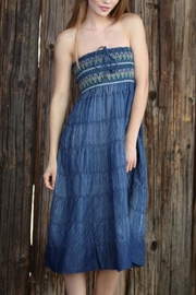 Angie Smocked Denim Dress - Product Mini Image