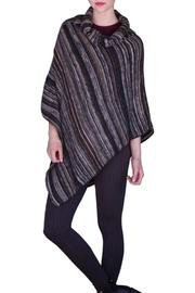 Tickled Pink Stripe Cowl Poncho - Product Mini Image