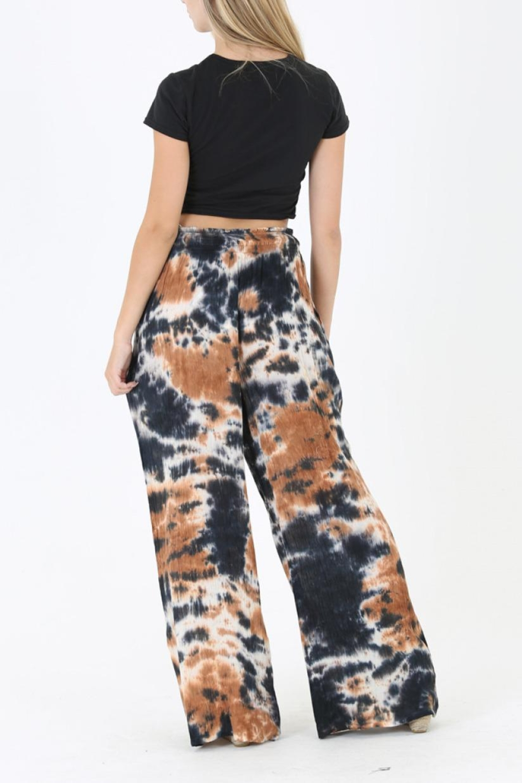 Angie Tie Dye Wide Leg Pant - Front Full Image