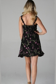 Angie Tie-Front Floral Dress - Side cropped