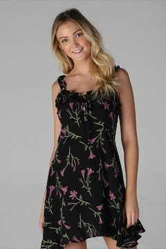 Angie Tie-Front Floral Dress - Product List Image