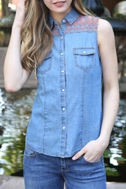 Angie Western Jeans Shirt - Product Mini Image