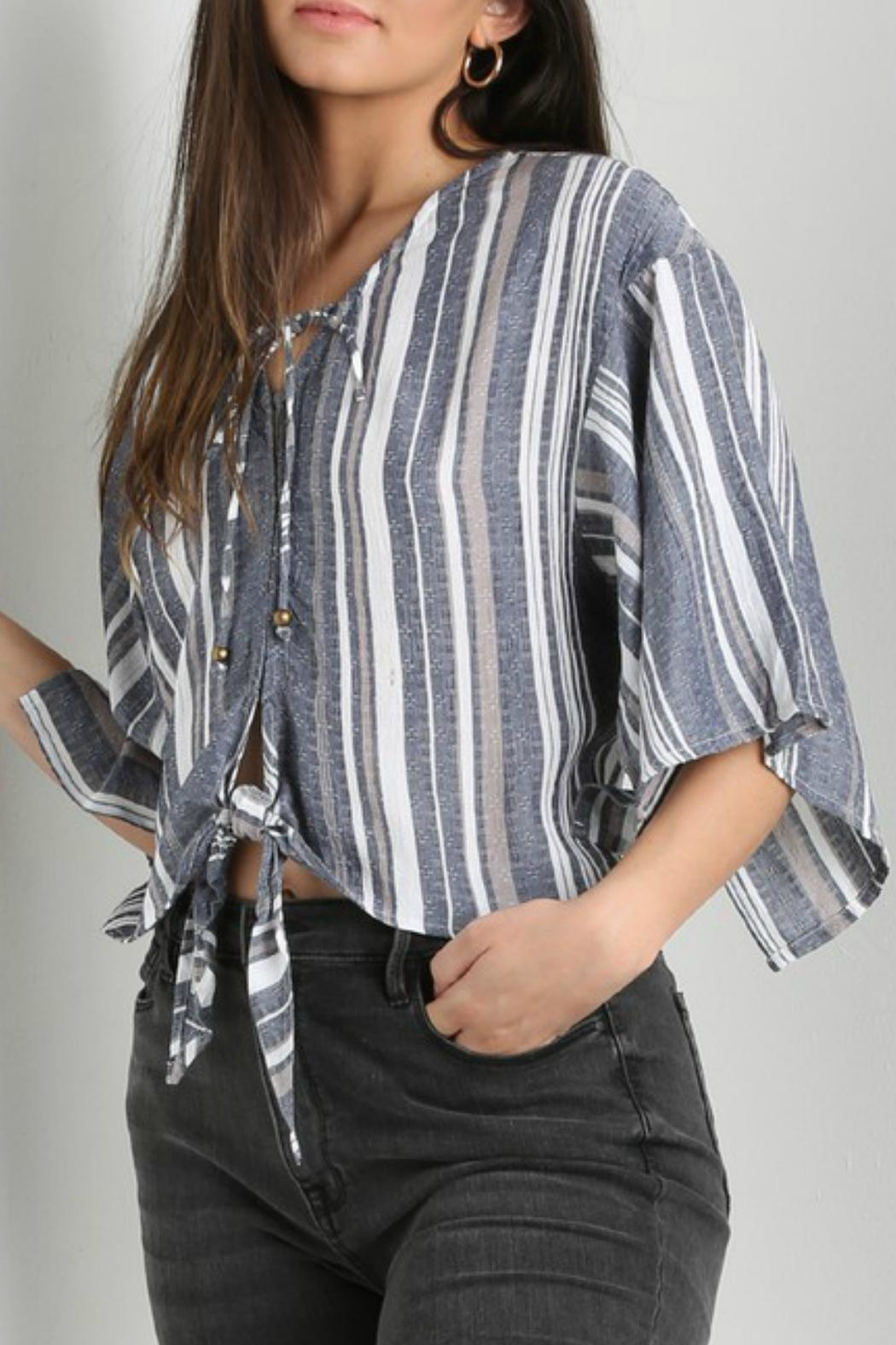 Angie Clothes Kimono Sleeve Top - Front Full Image