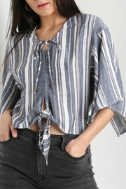 Angie Clothes Kimono Sleeve Top - Front cropped