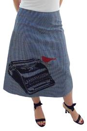 Angie Sweatshop Screen Print Skirt - Product Mini Image