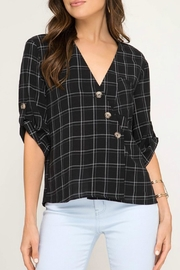 She + Sky Angle Button Blouse - Product Mini Image