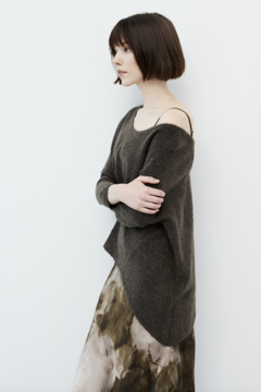 Grade and Gather Angle Front Sweater - Product List Image
