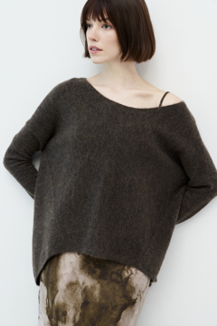 Grade and Gather Angle Front Sweater - Alternate List Image