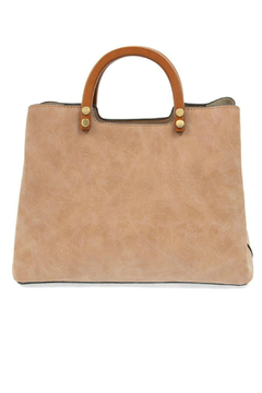 Shoptiques Product: Angle Vintage Satchel With Wood Handle
