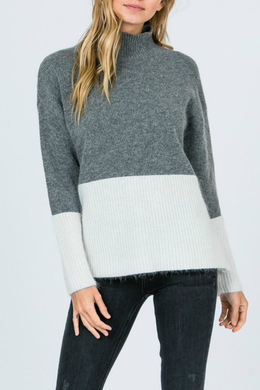 Pretty Little Things Angora Colorblock Sweater - Main Image