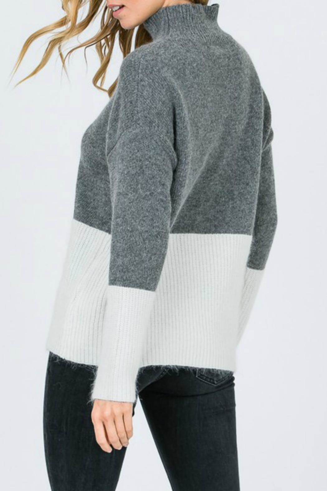 Pretty Little Things Angora Colorblock Sweater - Front Full Image