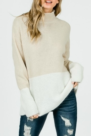 Pretty Little Things Angora Colorblock Sweater - Product Mini Image