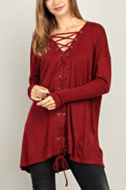 Mittoshop Angora Lace-front Top - Product Mini Image