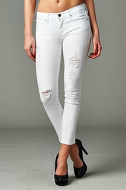 Angry Rabbit White Distressed Jeans - Product Mini Image