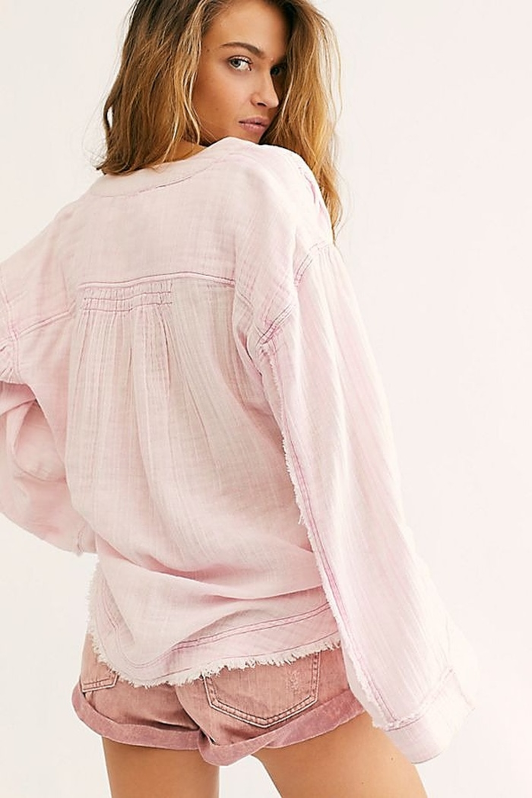 Free People Anguilla Washed Pullover - Front Full Image