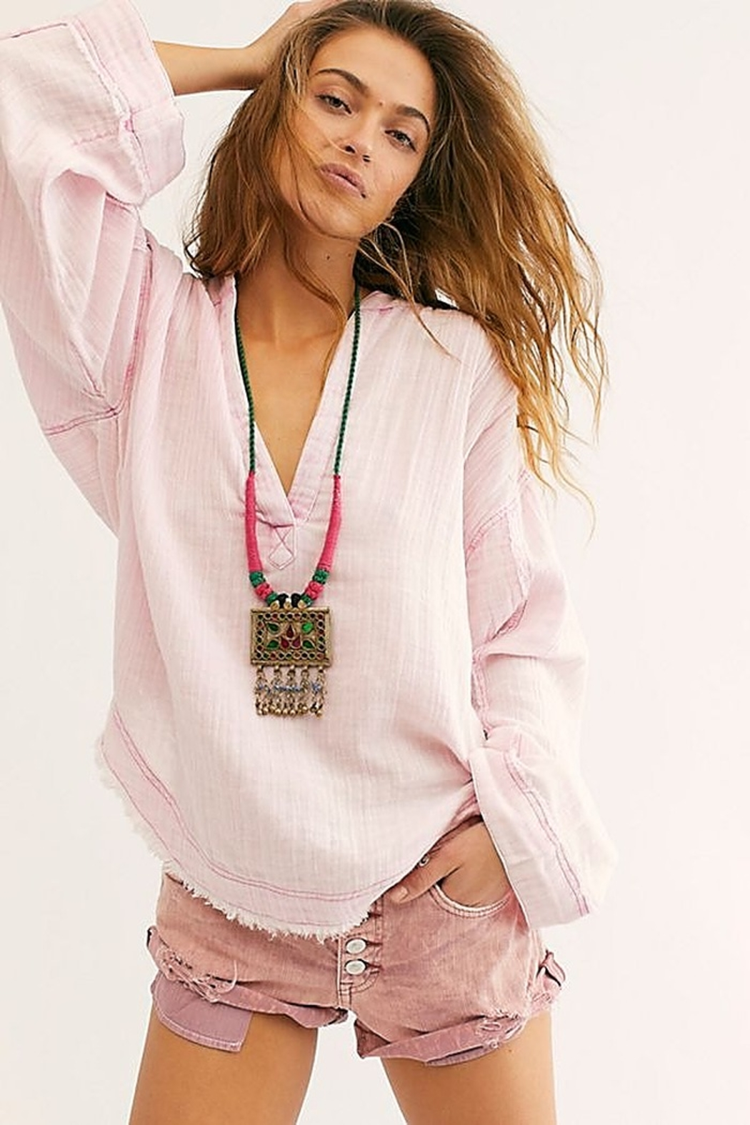 Free People Anguilla Washed Pullover - Main Image