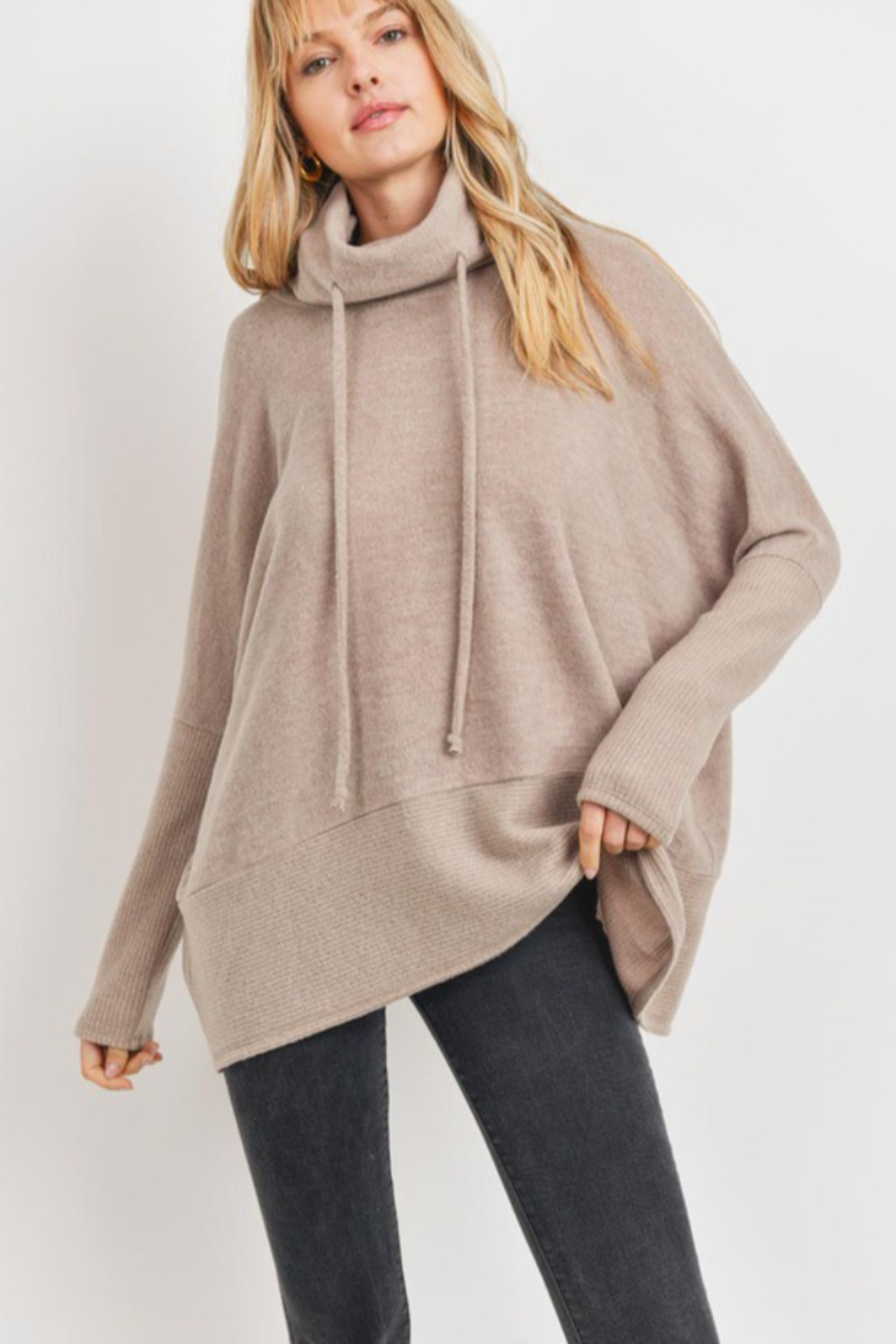 Cherish  Anika Drawstring Sweater - Front Cropped Image