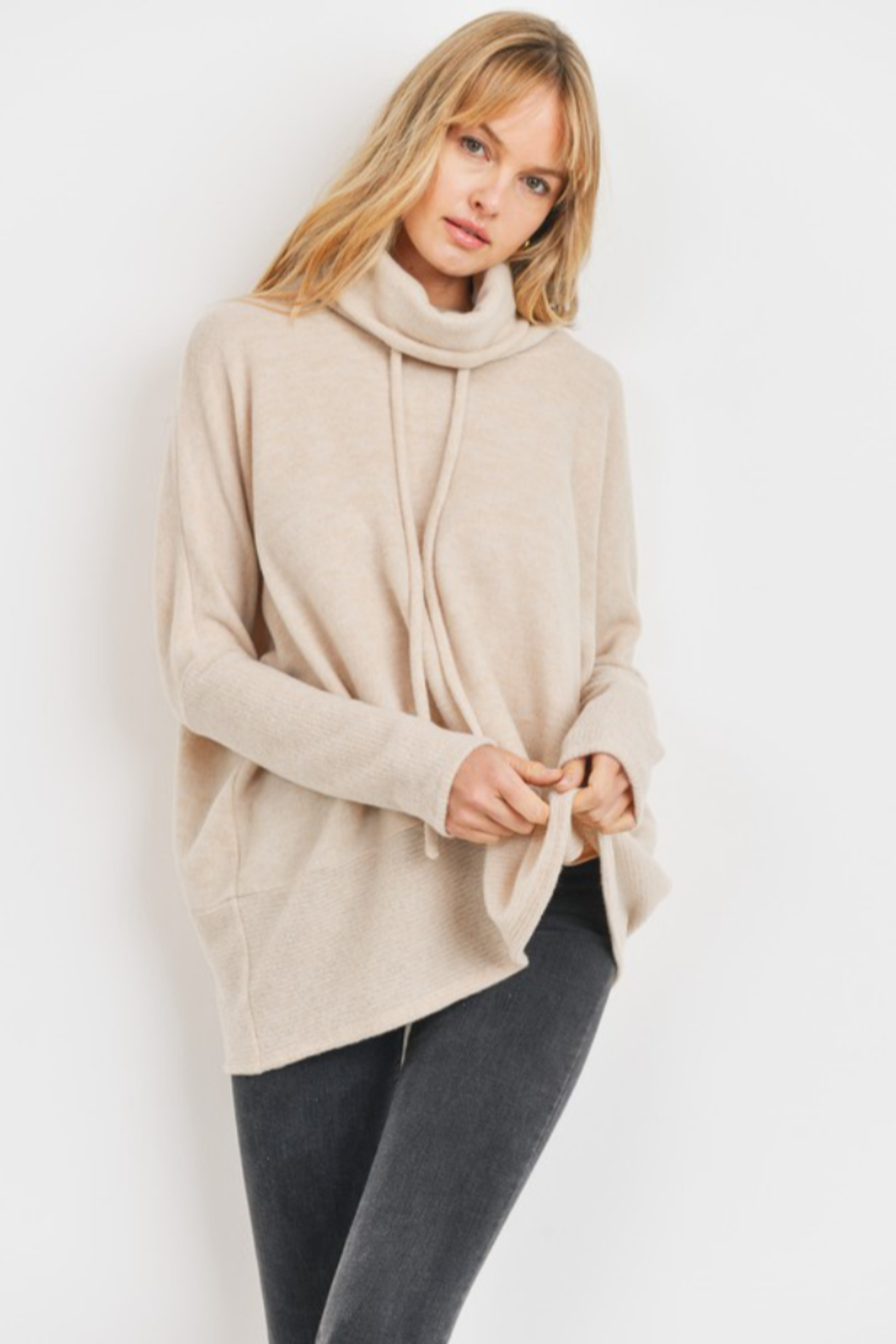 Cherish  Anika Drawstring Sweater - Front Full Image