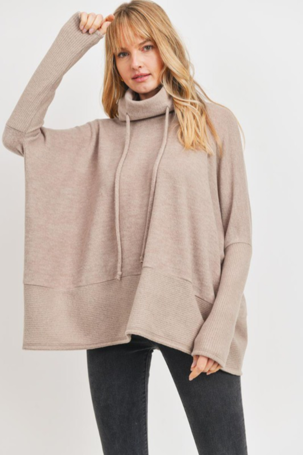 Cherish  Anika Drawstring Sweater - Side Cropped Image