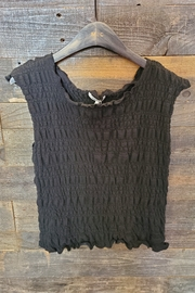Comune Anika Smocked Tank - Front cropped