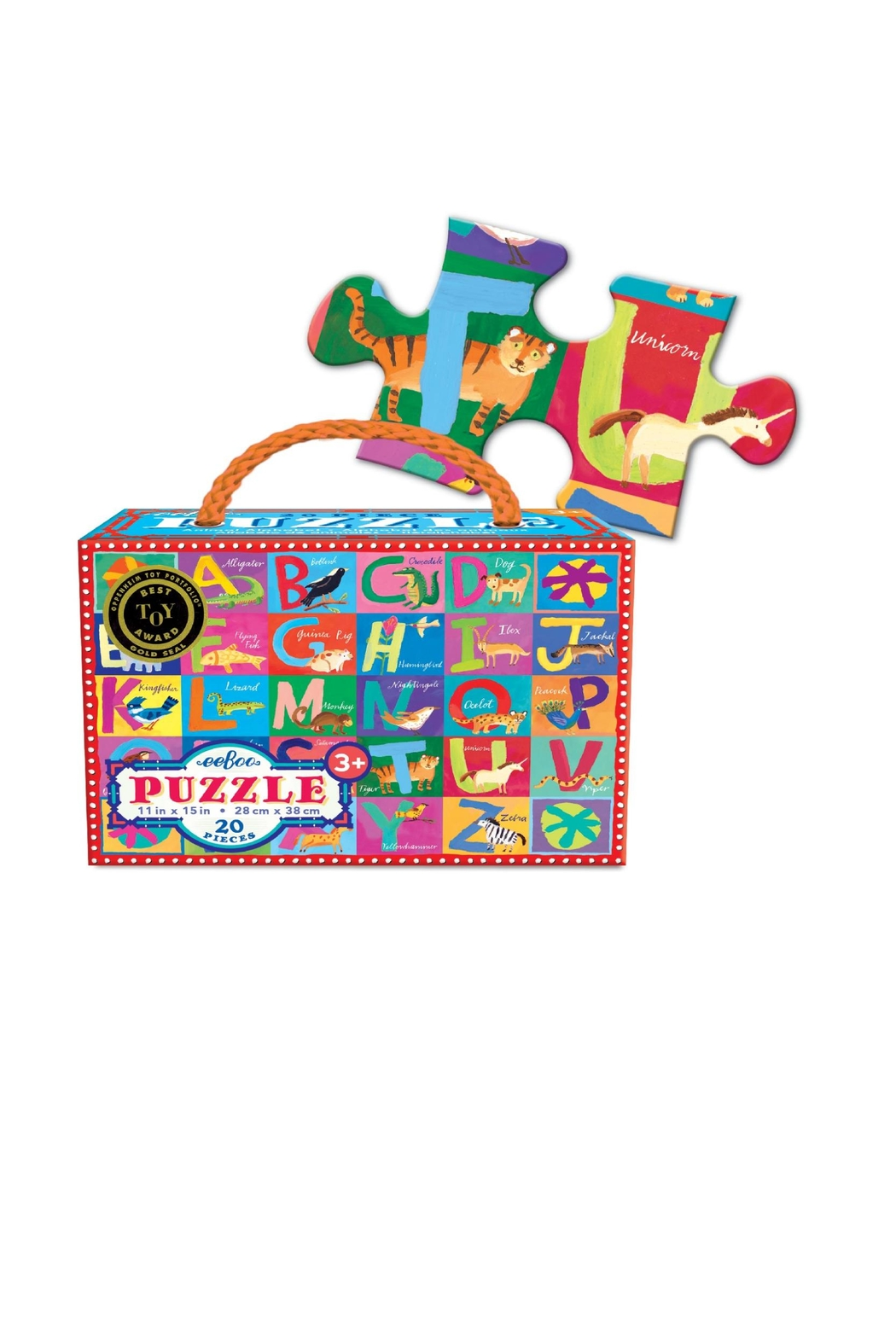 Eeboo Animal Alphabet Puzzle - Front Full Image