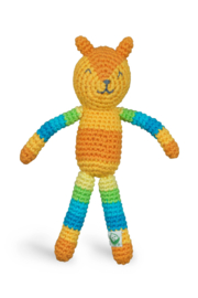 I Play Animal Friends Organic Rattle - Front cropped