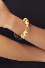 Kenneth Jay Lane Animal Hinge Bracelet - Front cropped