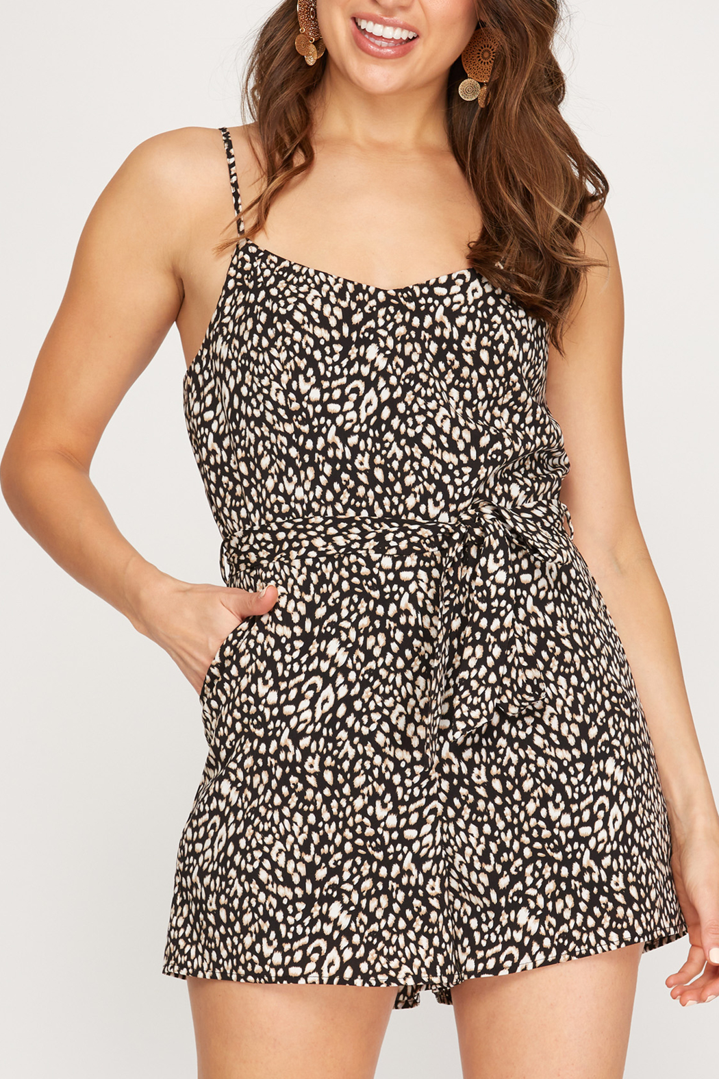 She and Sky Animal Instincts romper - Front Cropped Image