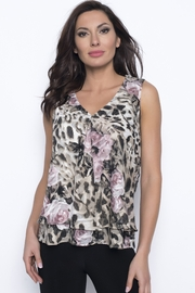Frank Lyman Animal print and pink floral tunic top - Product Mini Image