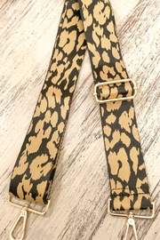 Ahdorned Animal Print Bag Strap Khaki - Product Mini Image