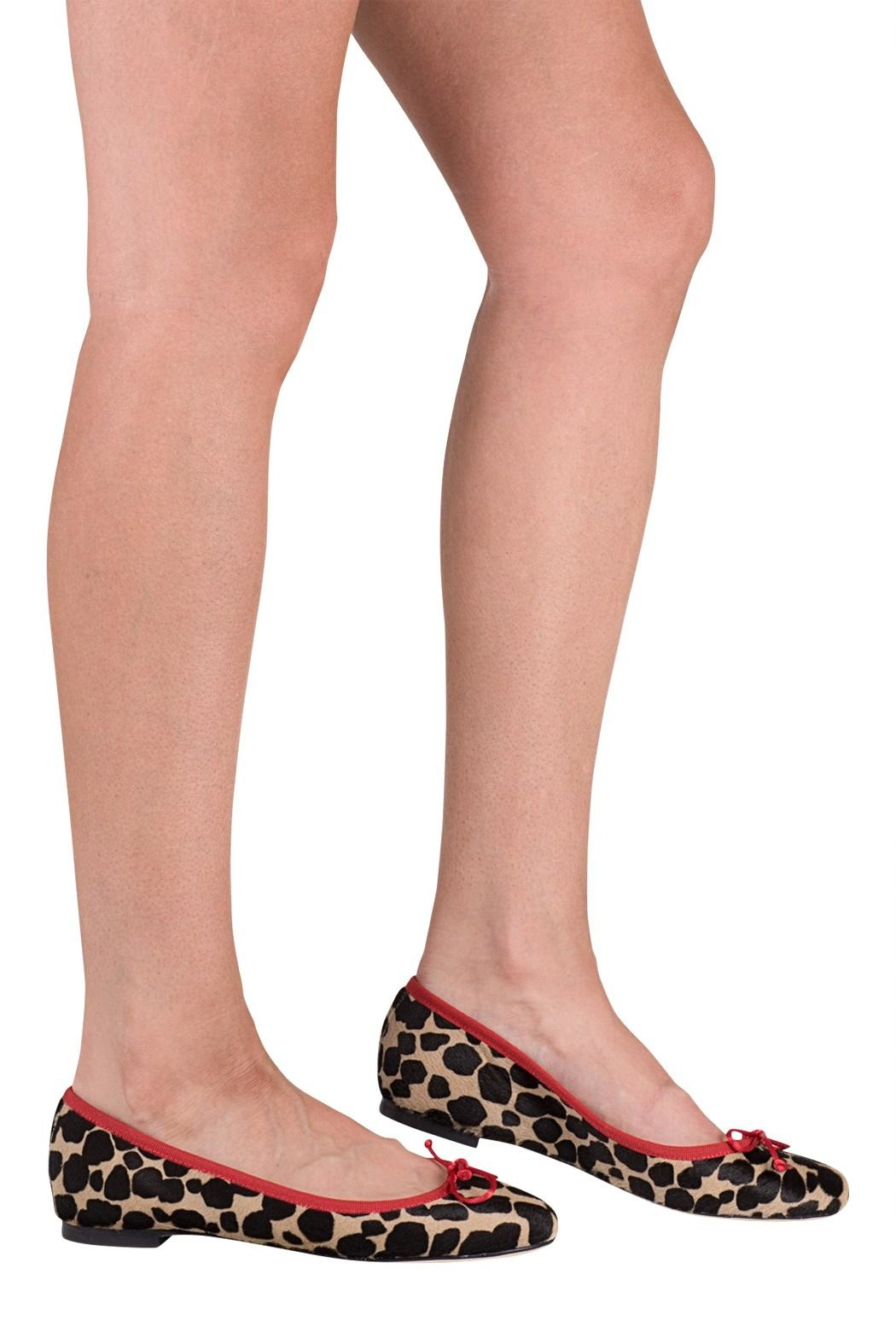 Pascucci Animal Print Ballerina - Back Cropped Image