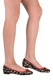 Pascucci Animal Print Ballerina - Back cropped