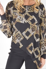 Joseph Ribkoff animal print blouse - Product Mini Image