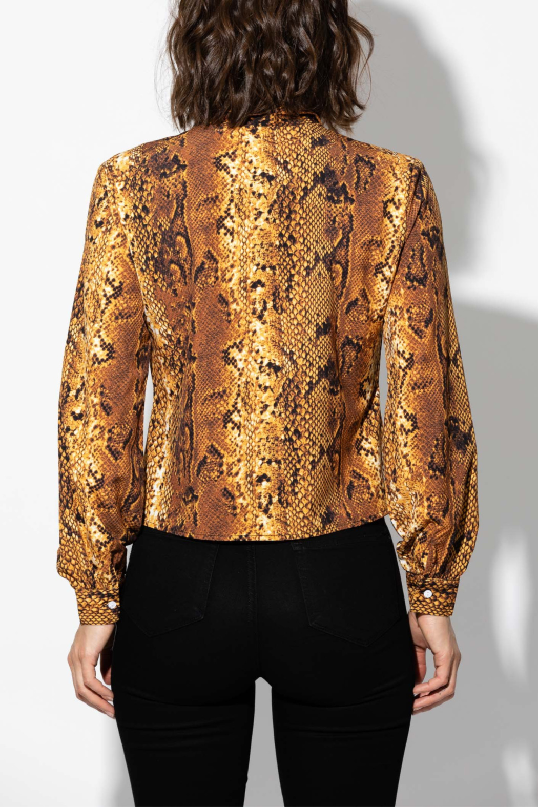 Haute Rogue Animal Print Blouse - Front Full Image